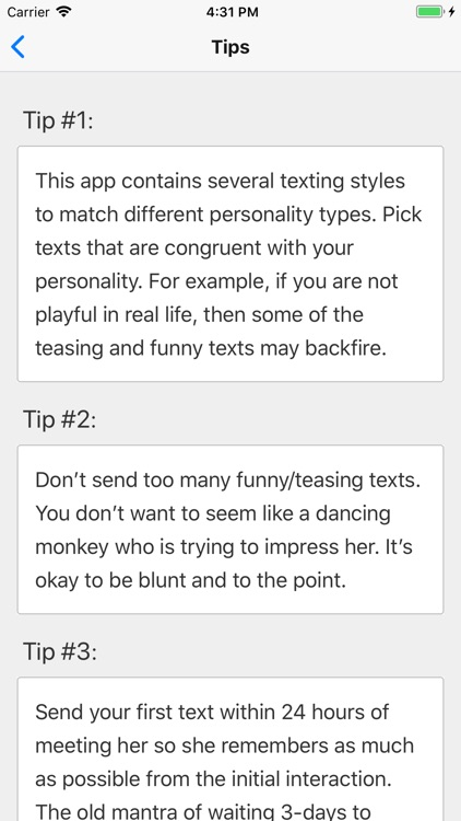Texting Girls Guide Pro screenshot-3