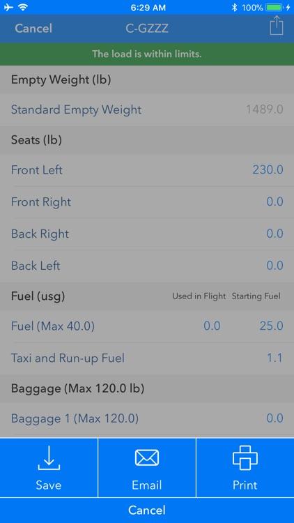 Aircraft Weight and Balance screenshot-9