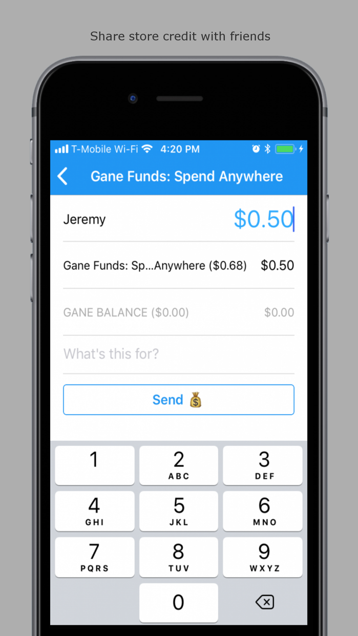 Gane - Send, Save, and Spend Screenshot