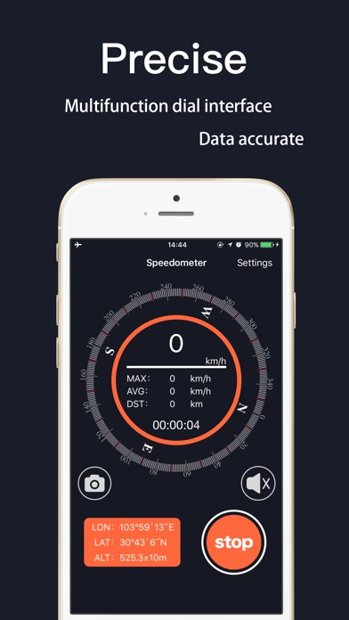Screenshot for Speedometer Pro! in United States App Store