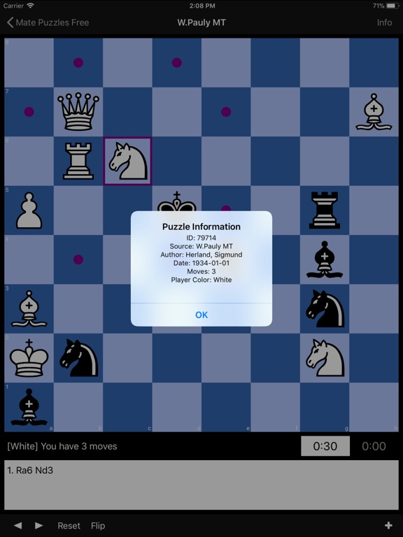 Chess Puzzles Lite Скриншоты8