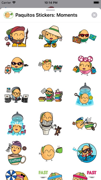 Paquitos Stickers: Moments screenshot-3