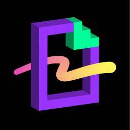 Ícone do app GIPHY World: AR GIF Stickers