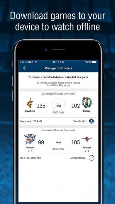 2017-18 NBA App Screenshots