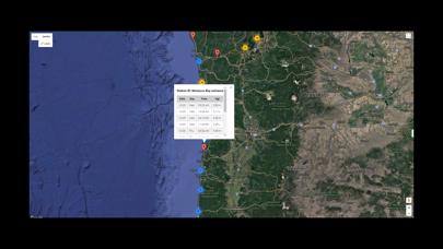 West Coast U.S.A. Tide Tables Screenshot