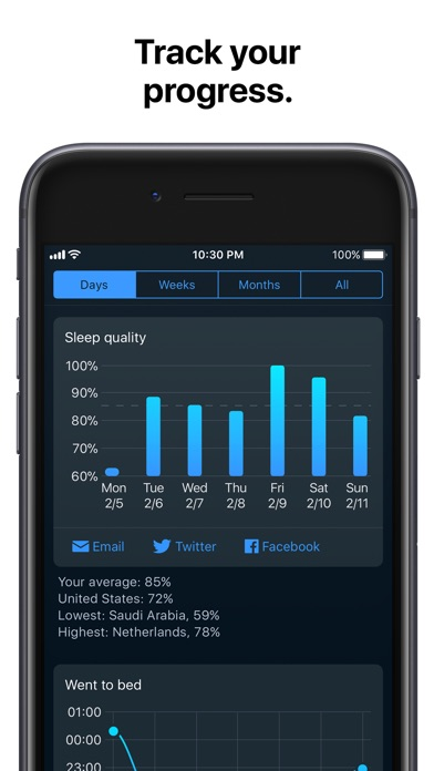 Sleep Cycle alarm clock Screenshots