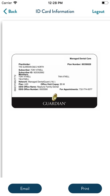 GUARDIAN® Providers & ID Cards screenshot-5