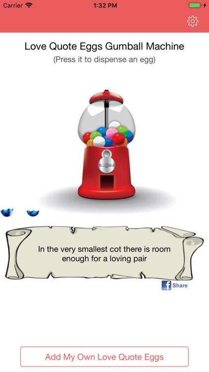 Love Quote EggsGumball Machine by JIUAN Lai