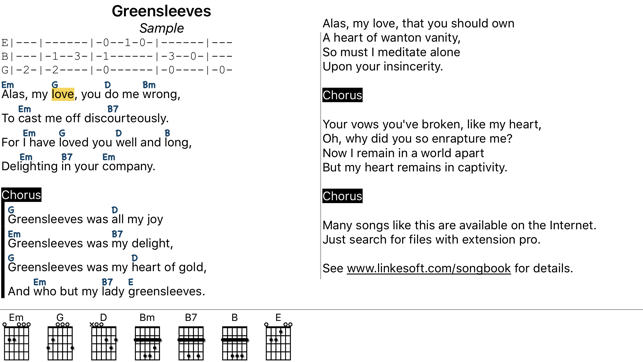 Songbook Chordpro On The App Store