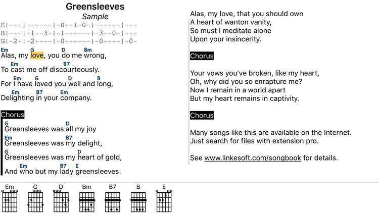 SongBook Chordpro screenshot-1