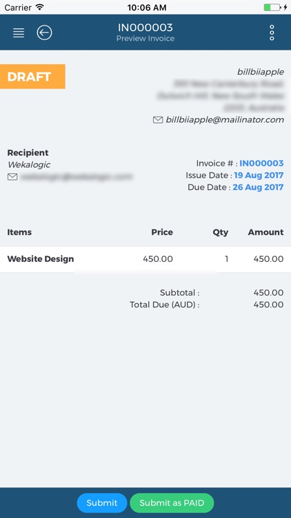 Invoicing & Quotes | Billbii screenshot-3