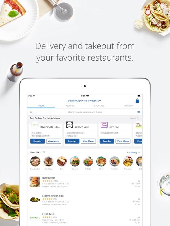 delivery com food alcohol screenshot