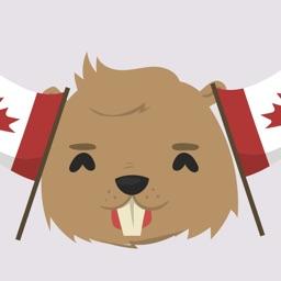 Canada Beaver Stickers