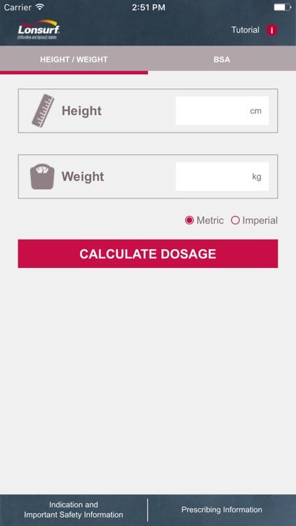 LONSURF Dosage Calculator