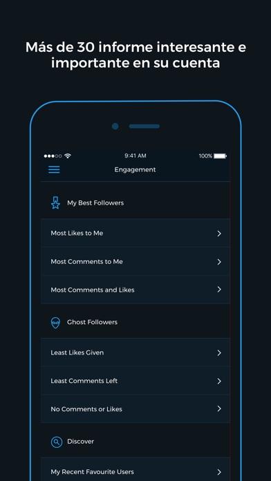 Screenshot for Reports+ para Instagram in Portugal App Store