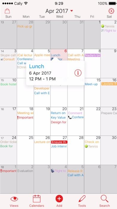 Week Calendar Screenshots