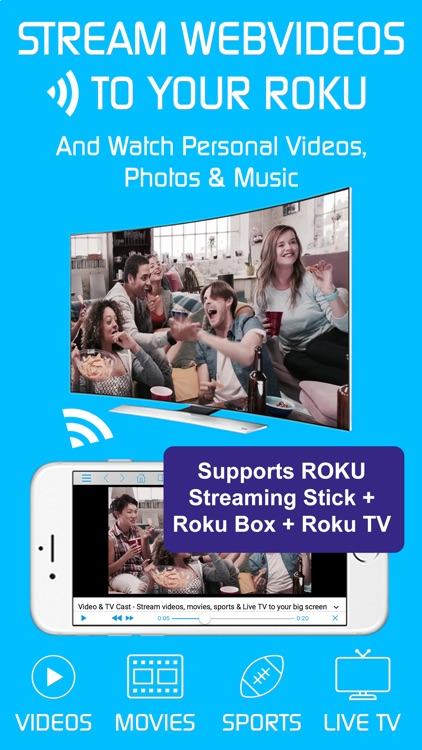Video & TV Cast + Roku Player