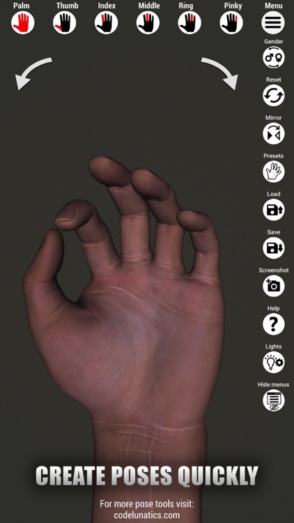 Manus - Hand reference for art by Tomi Nevalainen