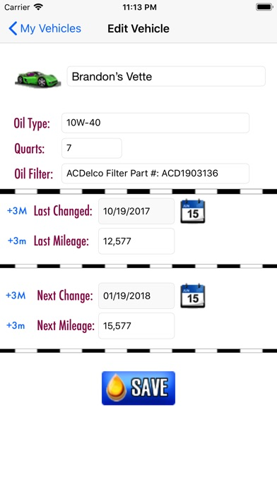 Screenshot for Oil Change - Track any vehicle in United States App Store