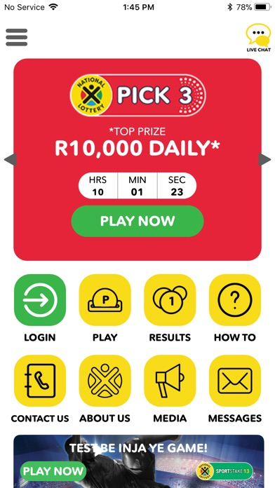 Screenshot for SA National Lottery in South Africa App Store