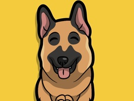 Express your love for german shepherd dogs with these hand drawn german shepherd emojis and stickers