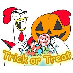 Chicken Bro Halloween Sticker
