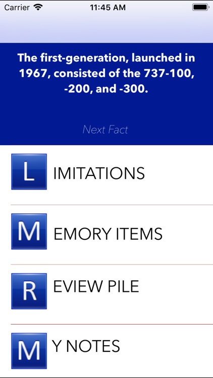 Limitations B737
