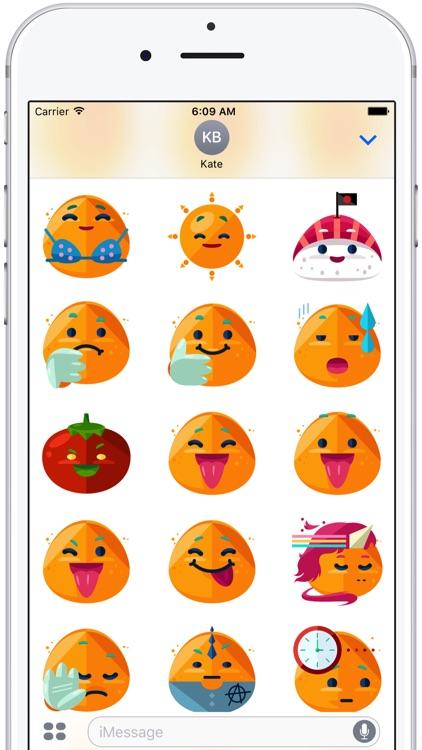 Flat Emoji Stickers Pack
