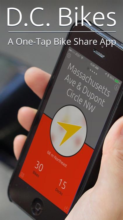 D.C. Bikes — A One-Tap Capital Bike Share App