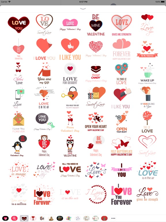 Love Message - Flat Stickers screenshot 5