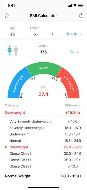 Aplikacja BMI Calculator – Weight Loss w App Store