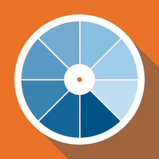 RAL color chart. 3D fan deck