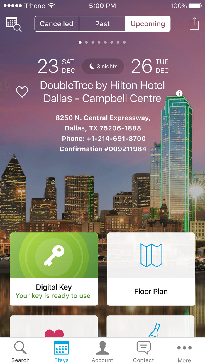 Hilton Honors Screenshot