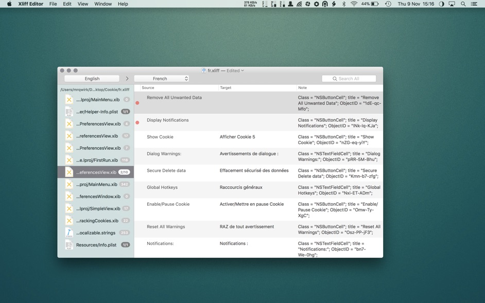 Xliff Editor 2 5 0 1 – Xcode localization made easy | macOS