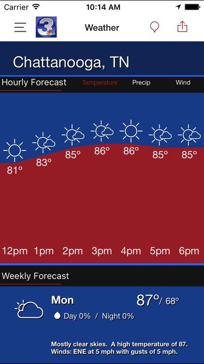 WRCB Radar screenshot-4