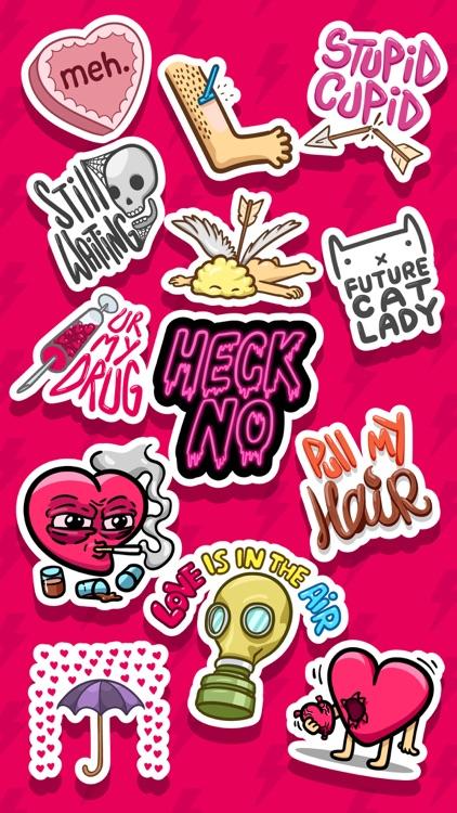 Love Hate Valentine's Sticker screenshot-4
