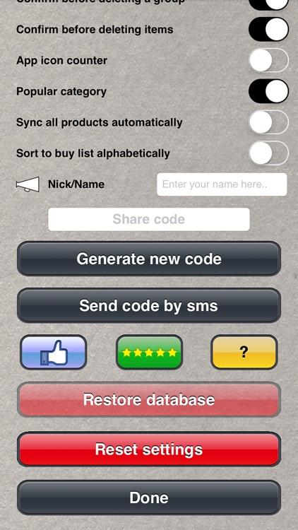 Doodle Shopping List screenshot-4