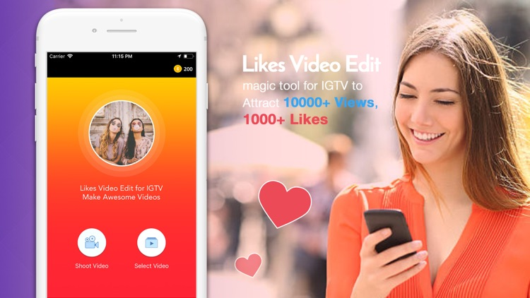 Get Likes Video Edit for IGTV