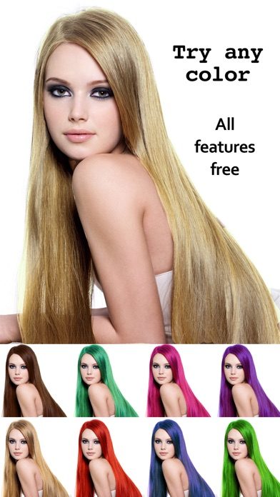 Screenshot for Hair Color Ändern Haarfarbe in Austria App Store
