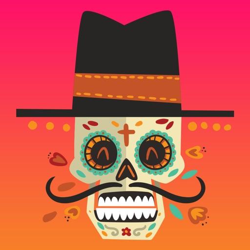 Dias de los Muertos - Colorful Sugar Skulls