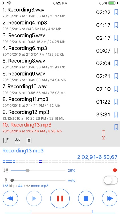 ALON Dictaphone-Voice Recorder screenshot-7