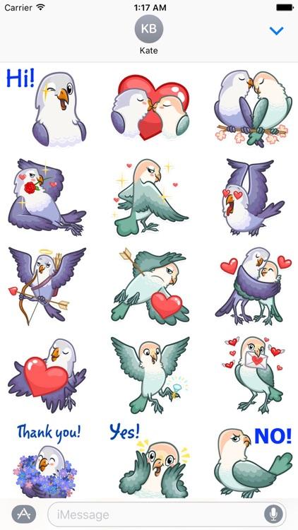 Love Of Birds Lovemoji Sticker