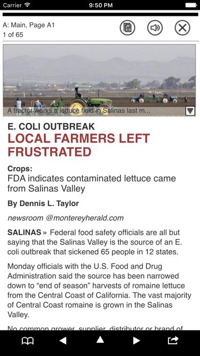 Monterey Herald eEdition screenshot two