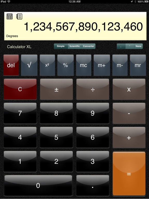 Calculator XL Standard, Scientific, Unit Converter Скриншоты4