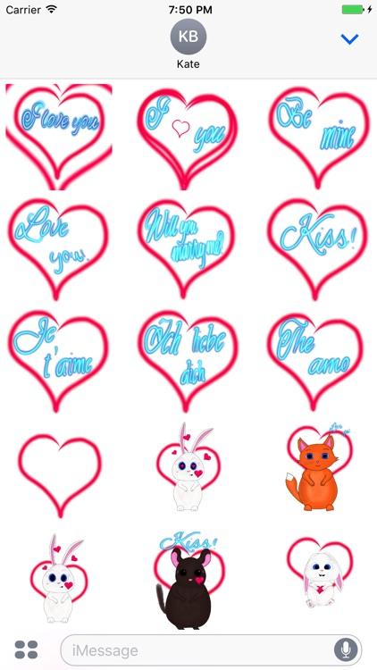 st.valentine's stickers