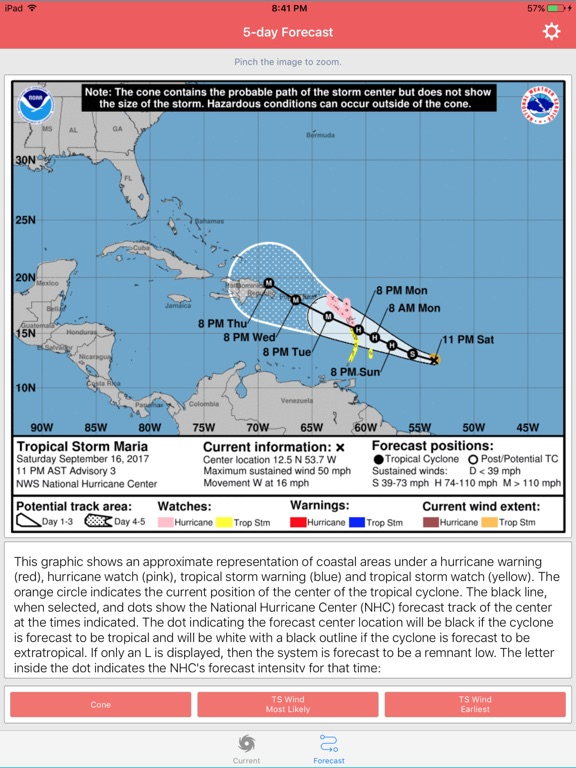 National Hurricane Center Data screenshot 7