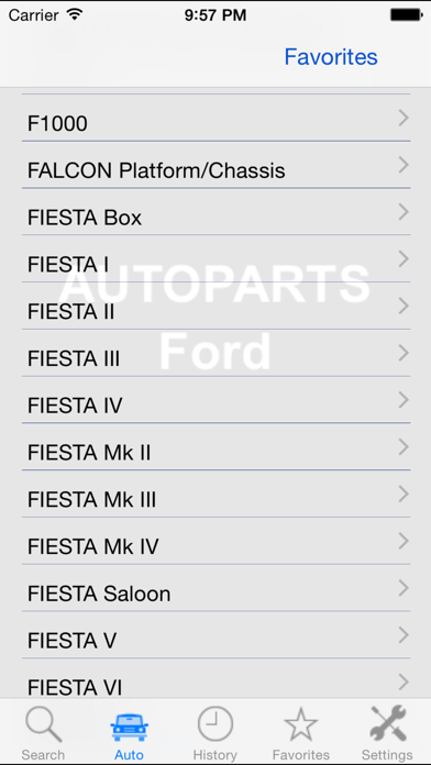 Screenshot for Autoparts for Ford in Japan App Store