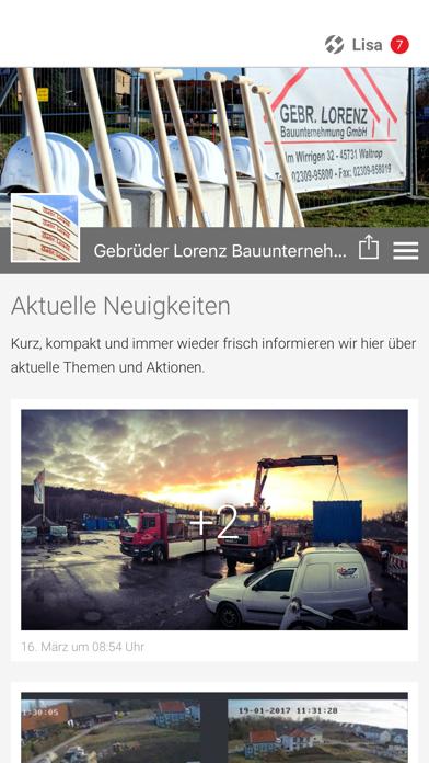 Gebr. Lorenz Bauunternehmung screenshot one