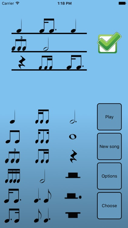 Rhythmic dictation trainer screenshot-3
