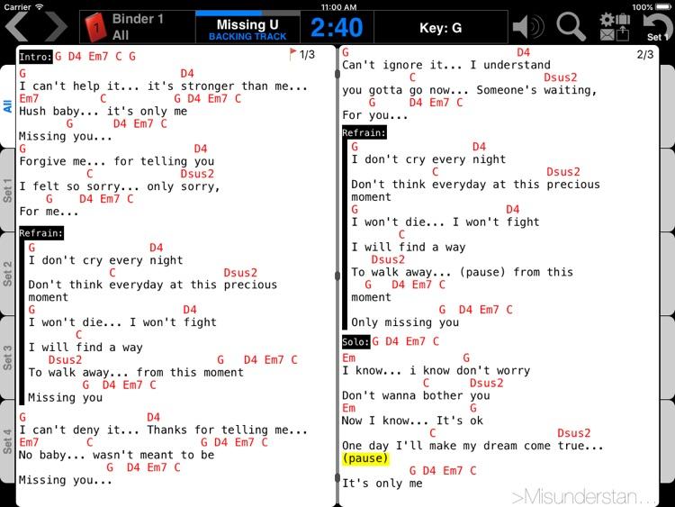 Music Binder (PDF & ChordPro)